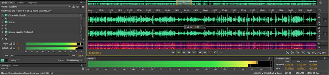 Audio Non-Linear Timeline