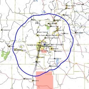 KAZQ coverage map